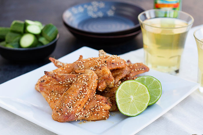 Japanese Oven Fried Spicy Chicken Wings