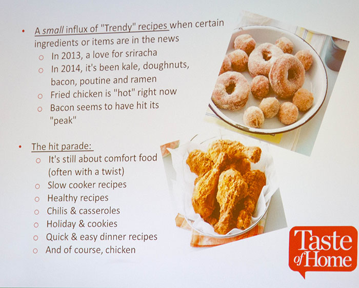 Taste of Home Food Trends Presentation Slide