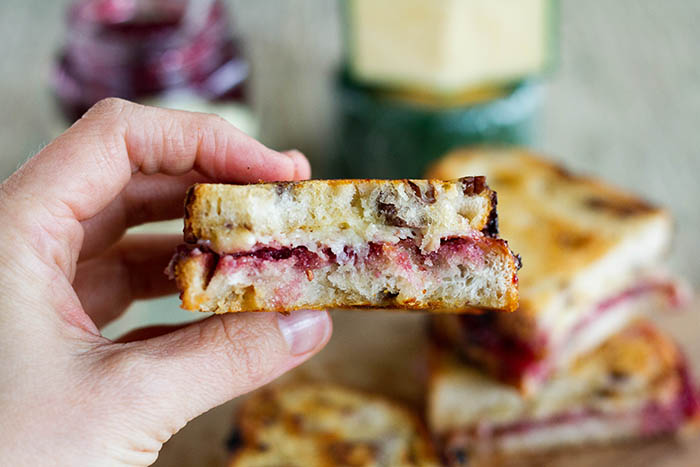 Dubliner Cheese and Berry Jam Grilled Cheese Sandwich