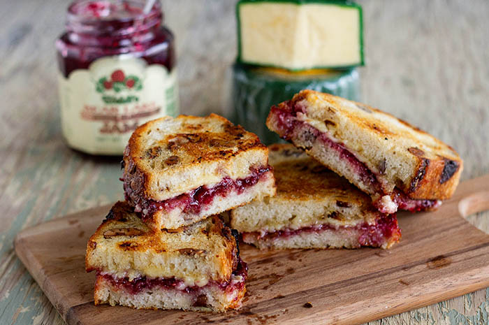 Kerrygold Dubliner Cheese and Berry Jam Grilled Cheese Sandwiches