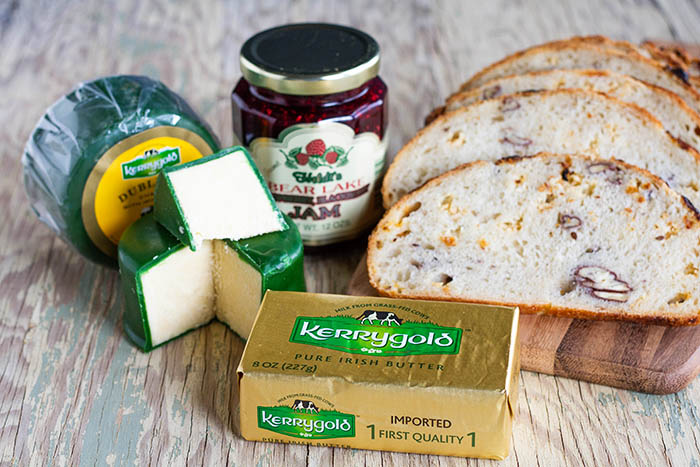 Ingredients for Dubliner and Berry Jam Grilled Cheese Sandwiches