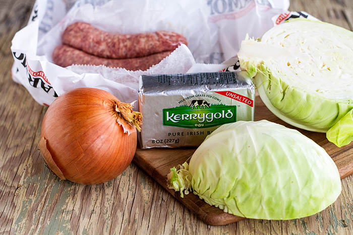 Ingredients for Sausage and Cabbage