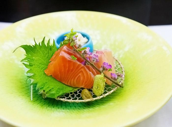 Kaiseki sashimi
