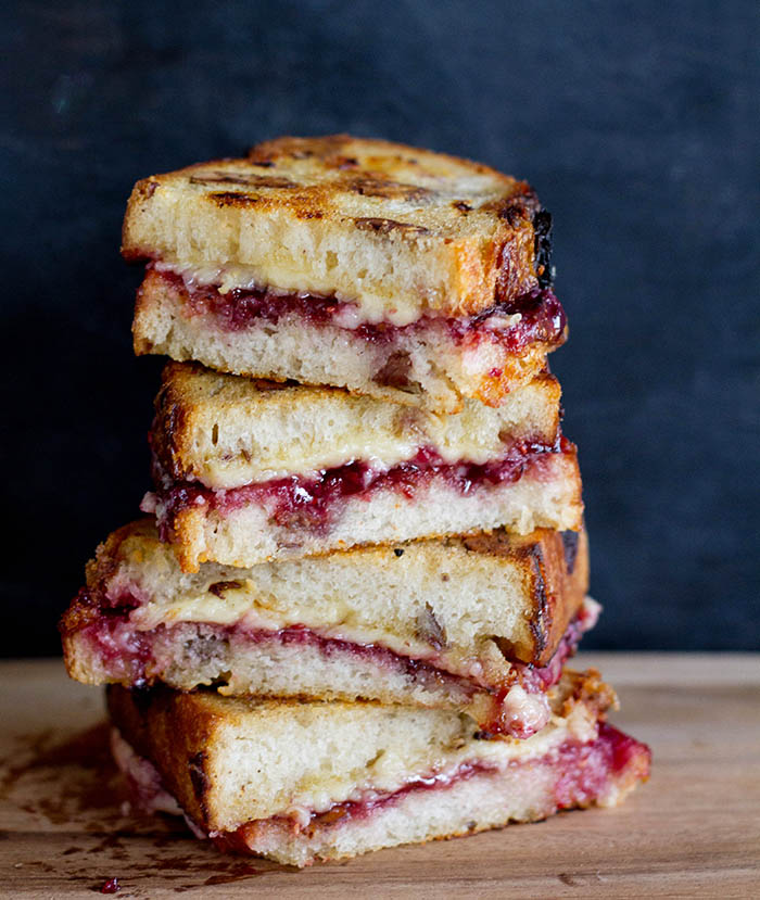 Dubliner and Berry Jam Grilled Cheese Sandwiches