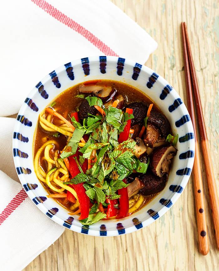 Veggie & Roasted Mushroom Noodle Bowl