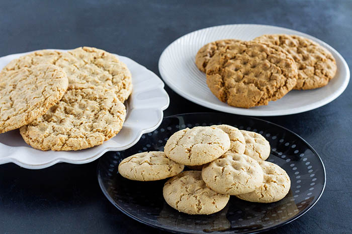Different variations on the chewy almond cookie recipe