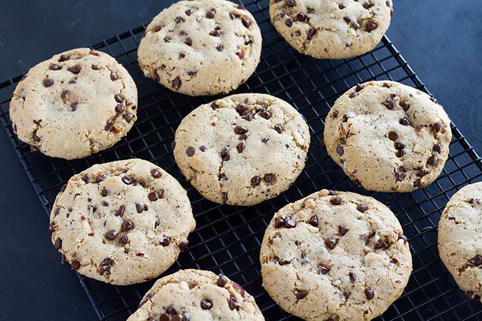 Gluten Free Chewy Chocolate Chip Hazelnut Cookies