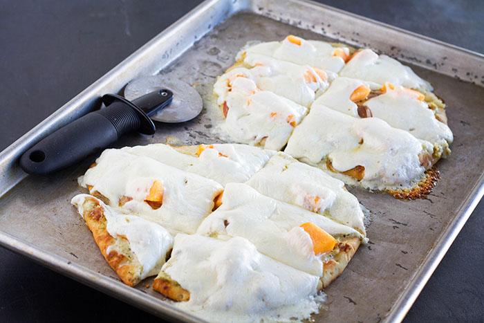 Cantaloupe Calabrese Naan Pizza
