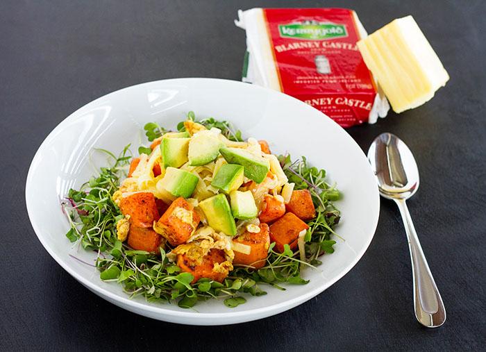 Cheesy Sweet Potato Breakfast Bowl