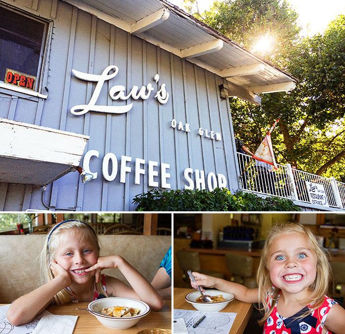 A trip to Laws Coffee Shop in Oak Glen, California