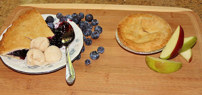 Caldwell House Pie made using fruit from nearby farms