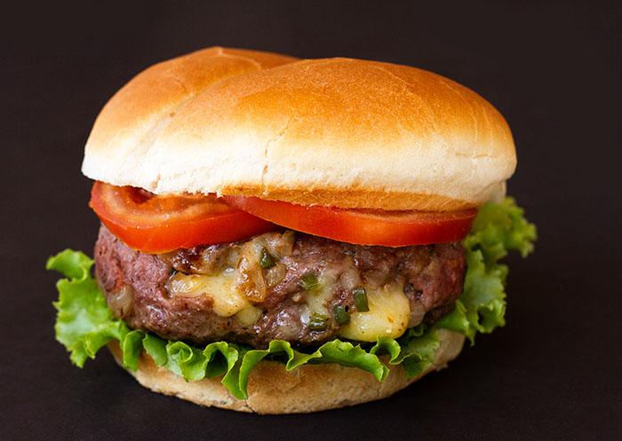 Spicy Cheddar Lamb Burger Recipe — La Fuji Mama