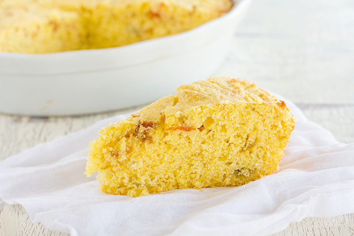 Slice of Roasted Hatch Chile Cornbread