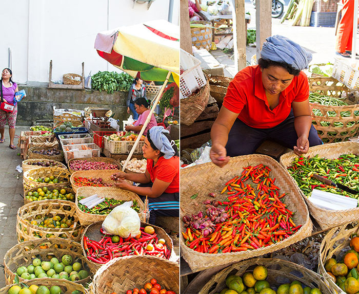 At a Balinese market in Ubud, Bali