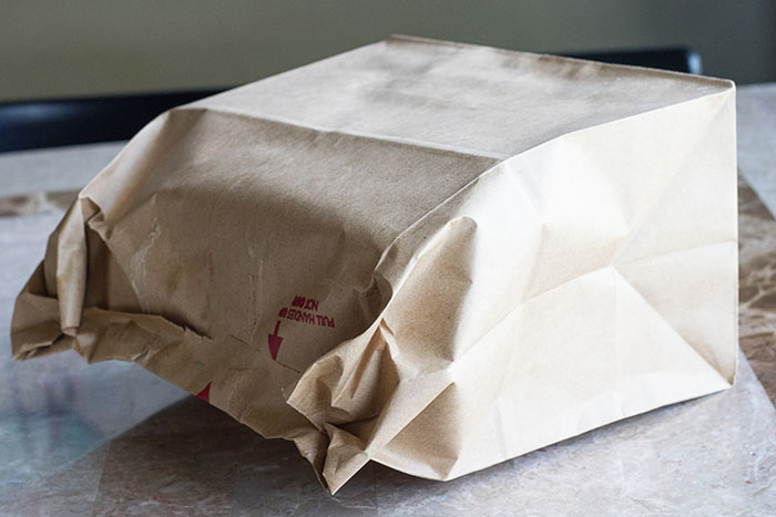 Seal the pie in a brown paper bag for baking, www.lafujimama.com