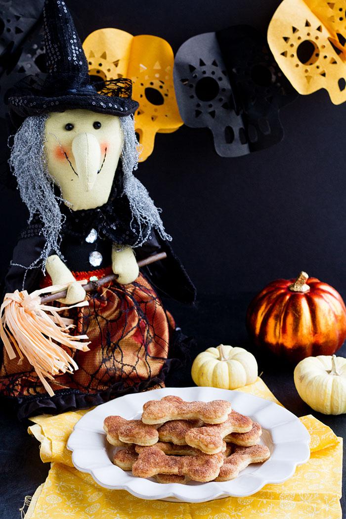 Spooky Cinnamon & Sugar Pie Crust Cookies