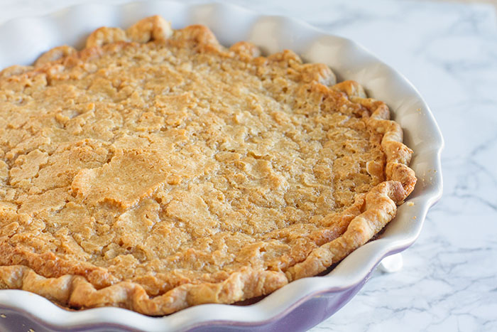 Almond Crackle Custard Pie