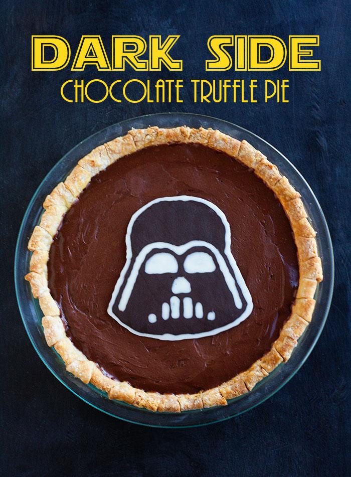 Dark Side Chocolate Truffle Pie