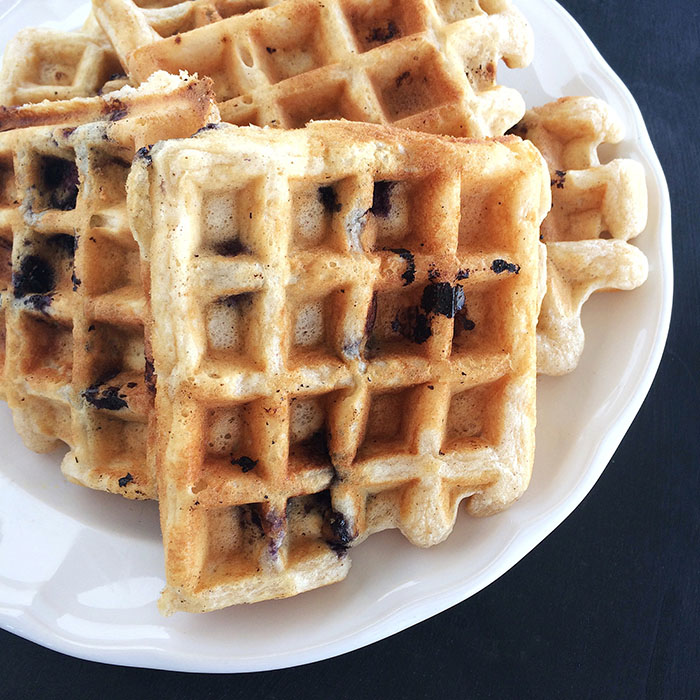 Bug's Birthday Blueberry Waffles