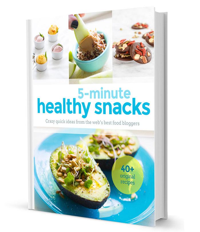 5-Minute Healthy Snacks e-cookbook