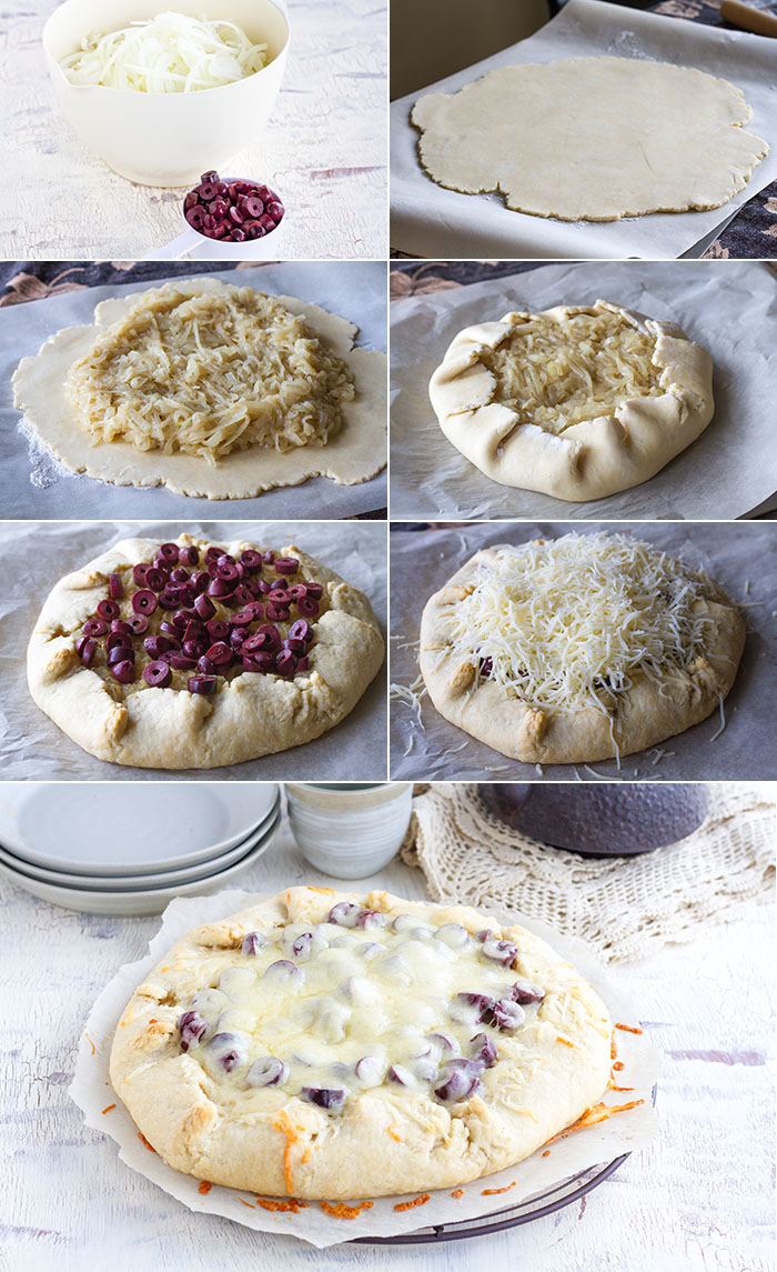 Amazing Free-Form French Onion Tart.  Super easy to make and the crust is so flaky!