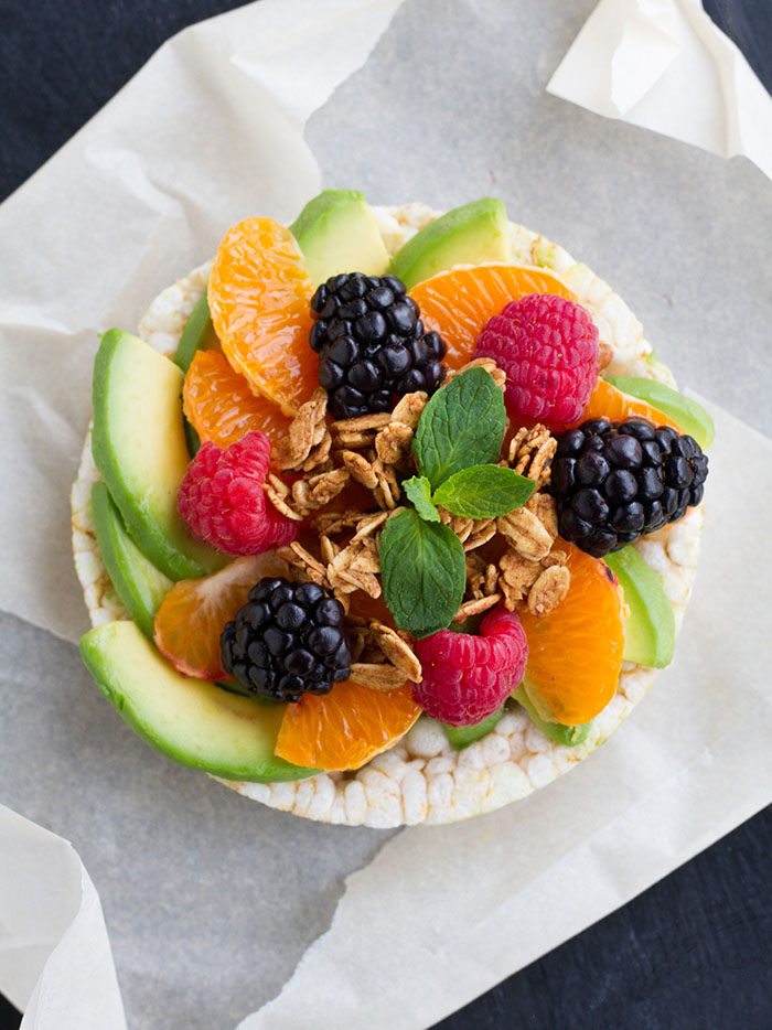 Fruity California Avocado Rice Cake