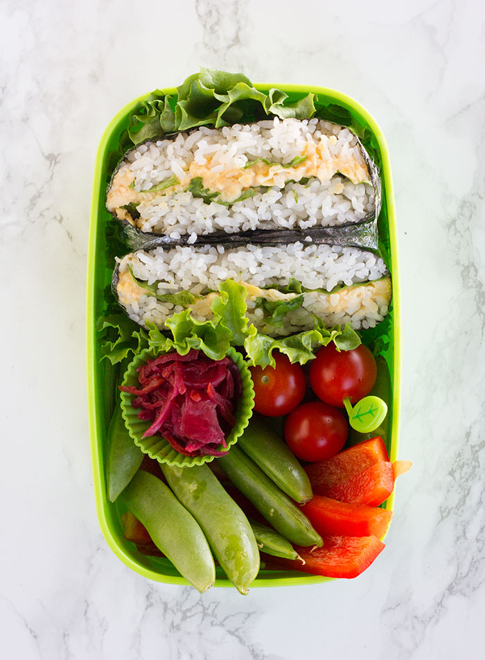 Chickpea Salad Onigirazu Bento