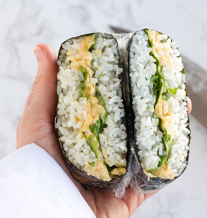 Chickpea Salad Onigirazu