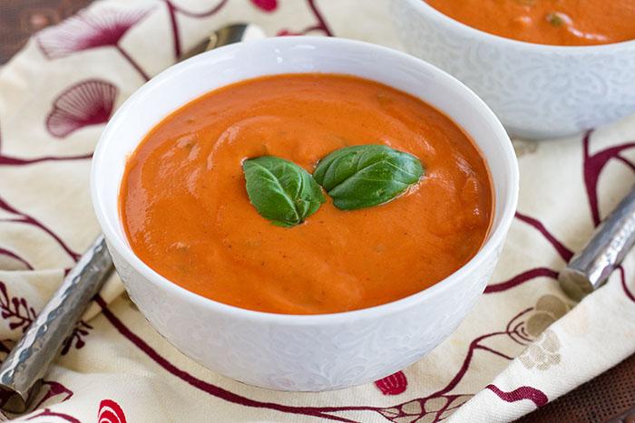 Dairy-free Creamy Tomato Basil Soup