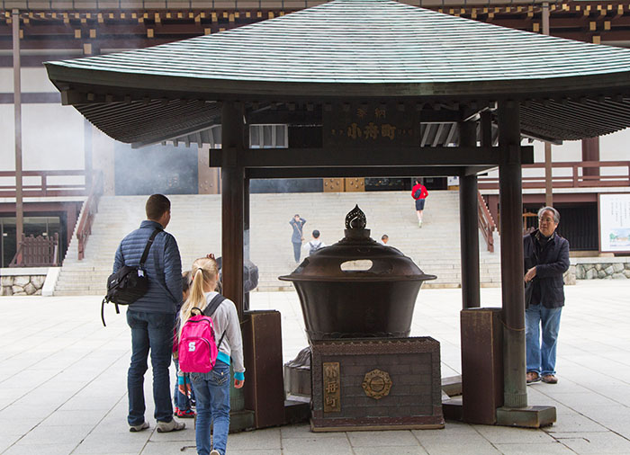 Visiting a temple in Japan
