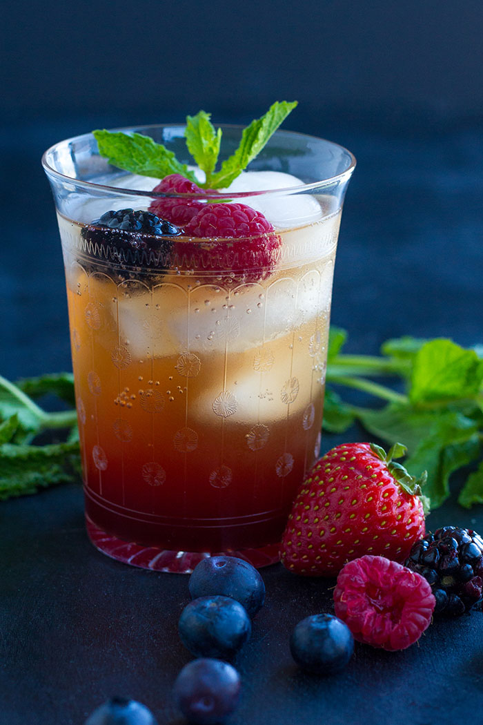 Summer Berry Shrub Spritzer