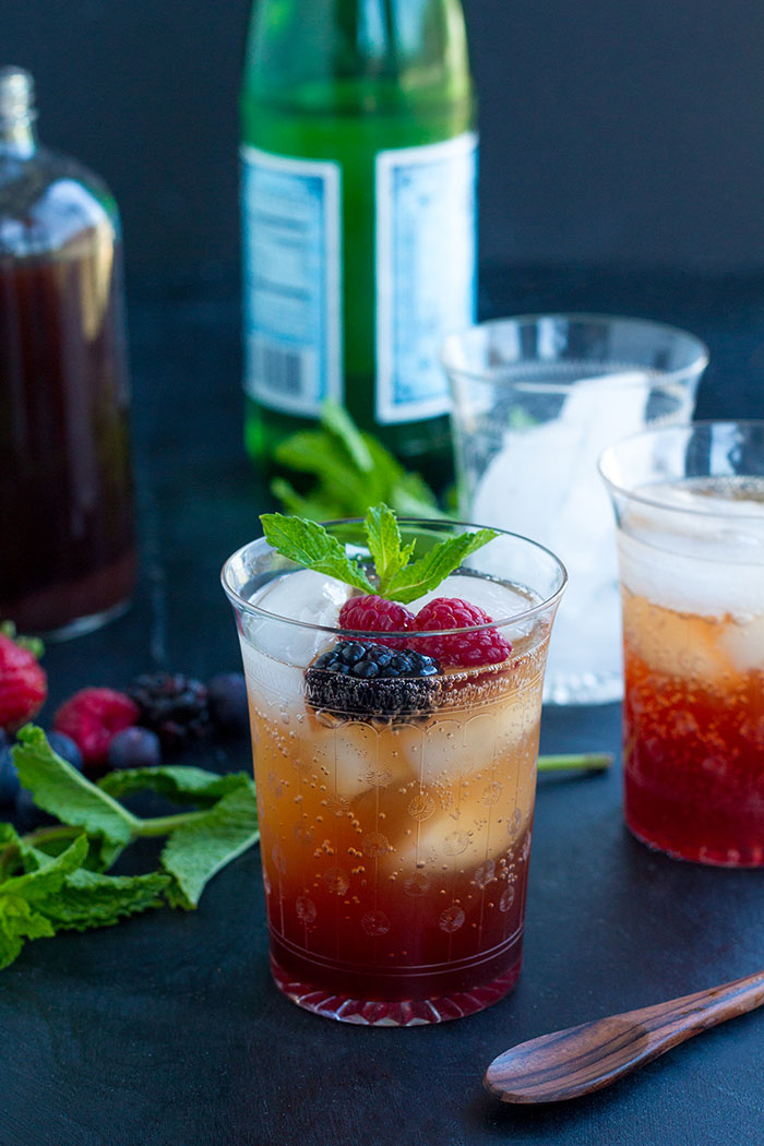 Summer Berry Shrub Spritzers
