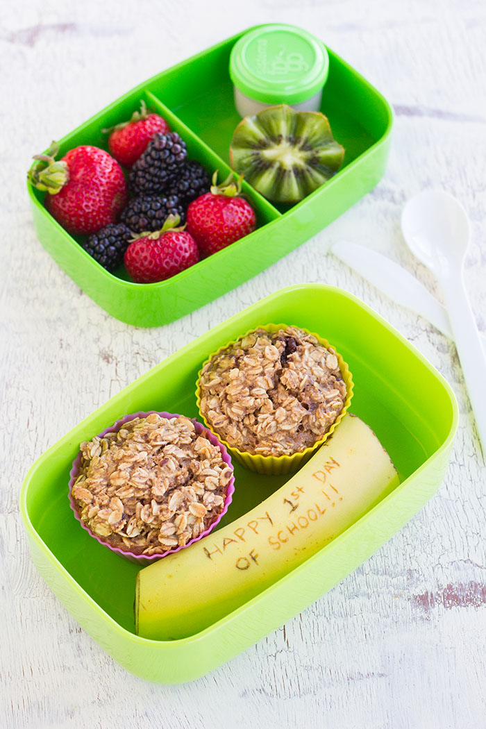 Baked Granola Oatmeal Cups Bento