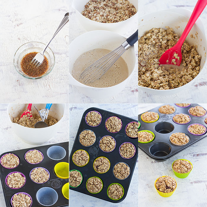Making Baked Granola Oatmeal Cups