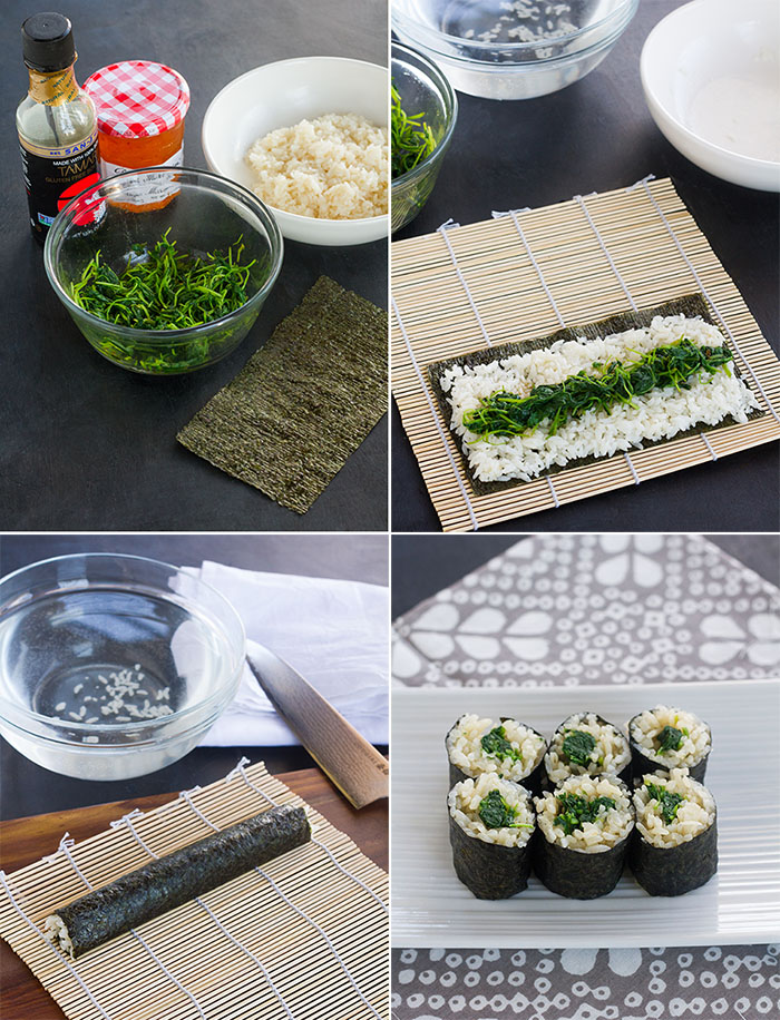 Making Marmalade Watercress Maki-zushi