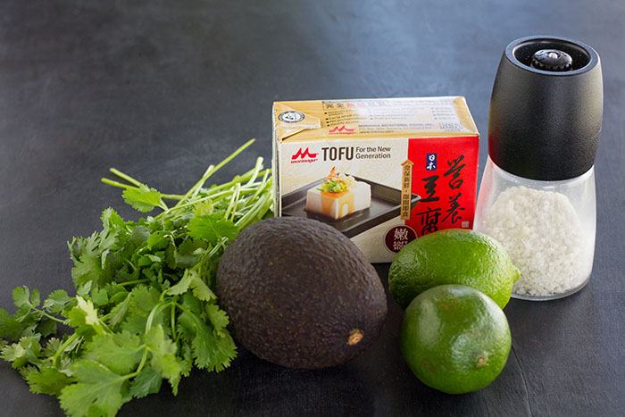 Ingredients for Vegan Avocado Crema