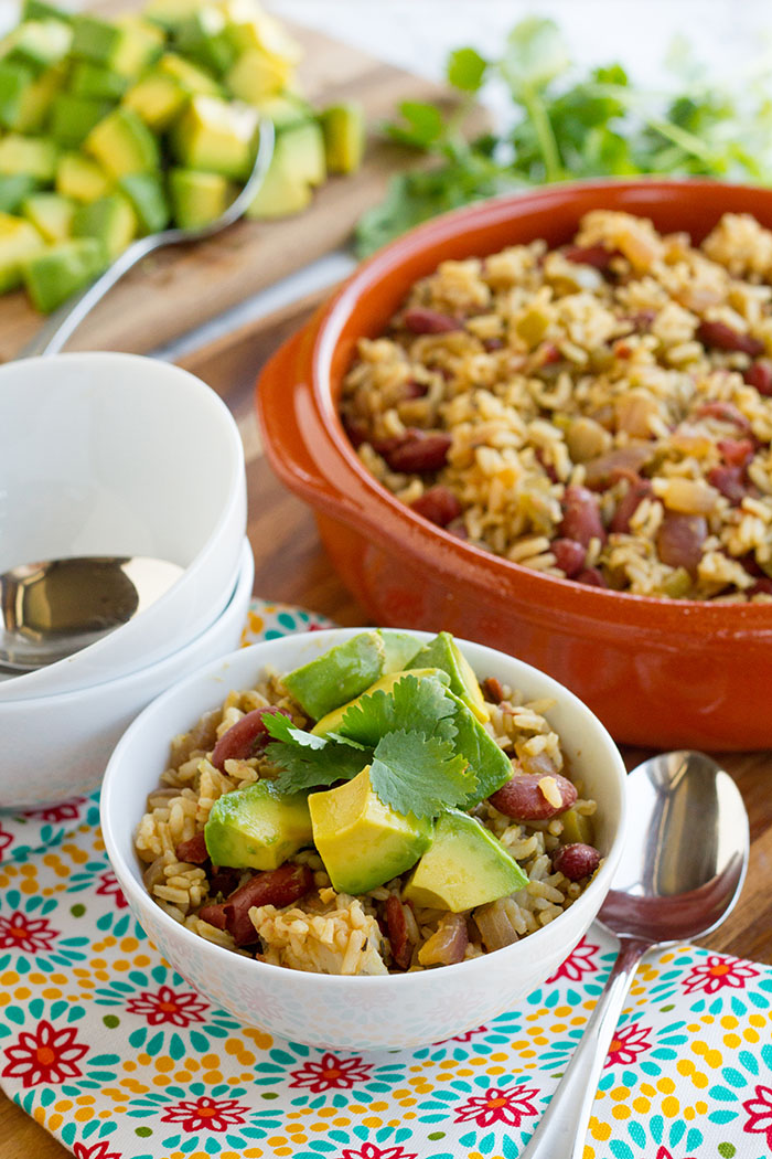 Red Beans and Rice with Avocado