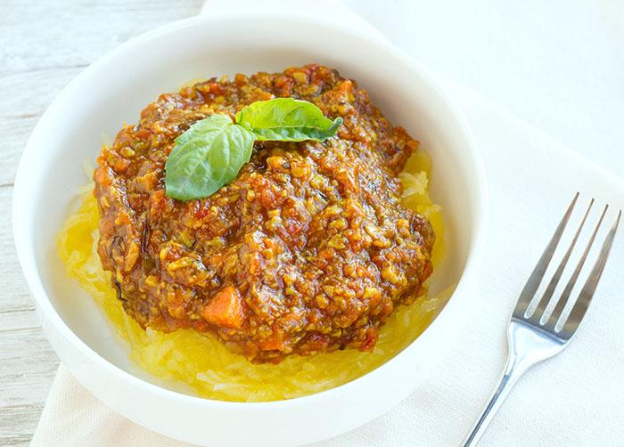 Mushroom Ragu with Spaghetti Squash