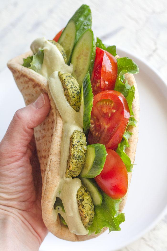 Avocado Falafel Pita Sandwich