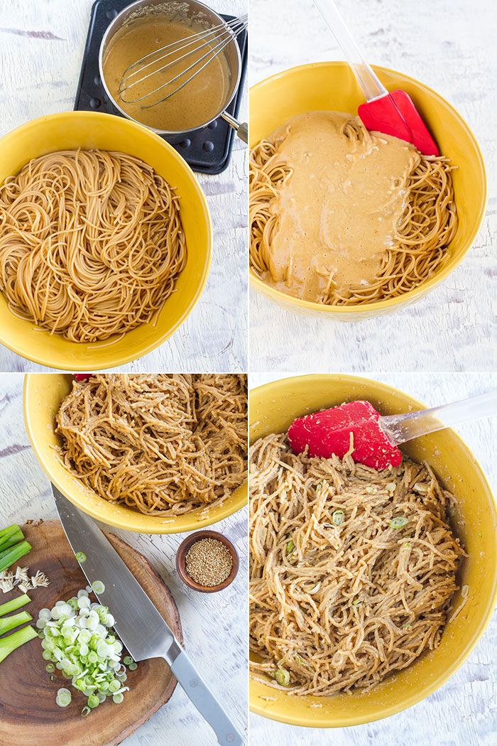 Cashew Butter Veggie Pasta