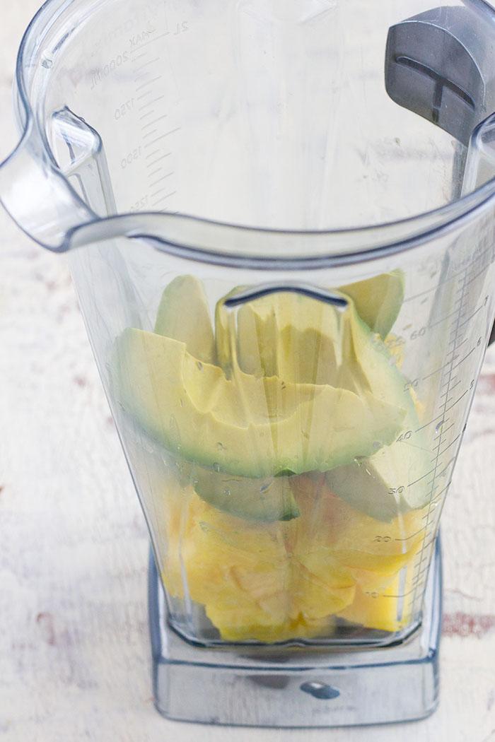 Making Avocado Pineapple Fresca