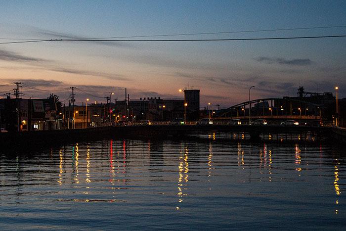 Aomori City at night