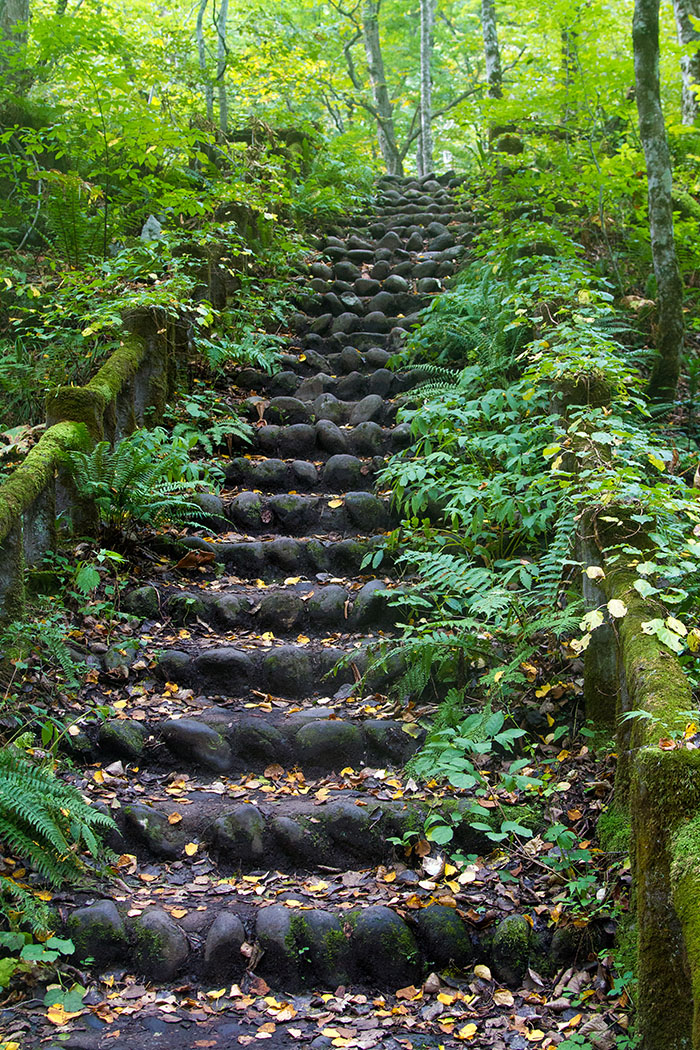 Stone Staircase in Oirase Gorge