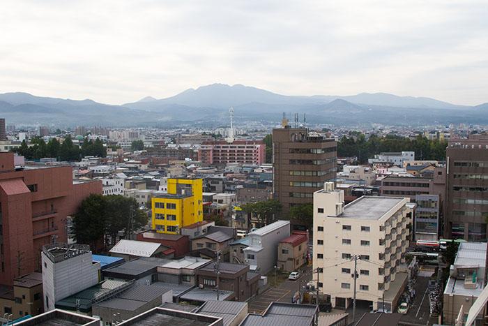 View of Aomori City, Japan