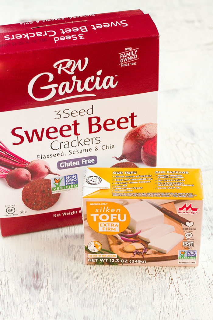 Beet Crackers and Silken Tofu for No-Bake Cheesecakes