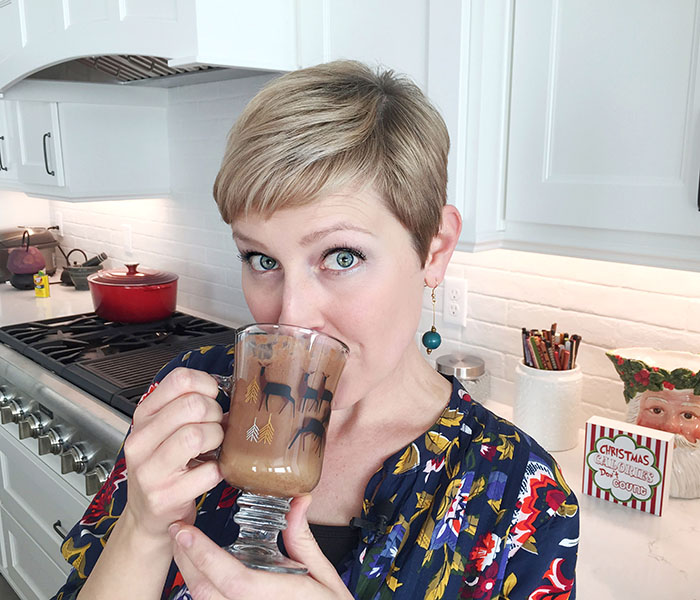 Drinking Garden Island Hot Chocolate
