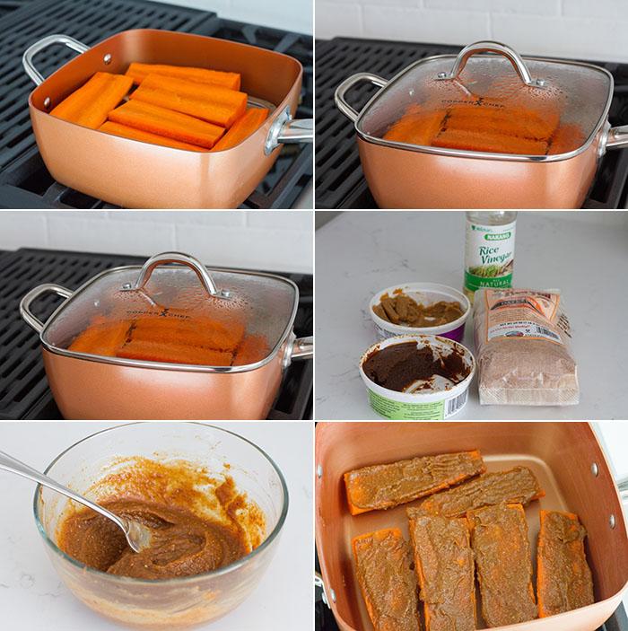 Making Miso Glazed Carrots