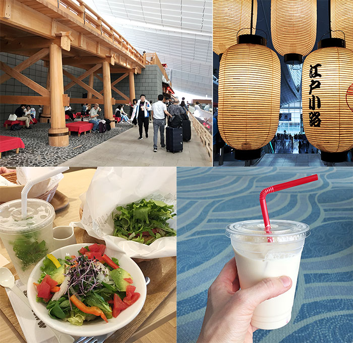 Eating at Haneda Airport in Tokyo
