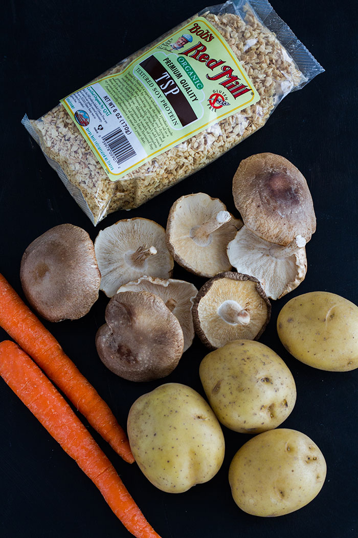 Ingredients for Vegan Nikujaga