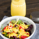 Salad with Almond Butter Turmeric Dressing